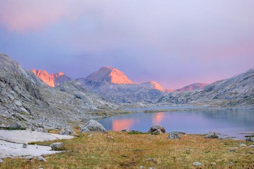 Sunset at Titcomb Valley, Wyoming