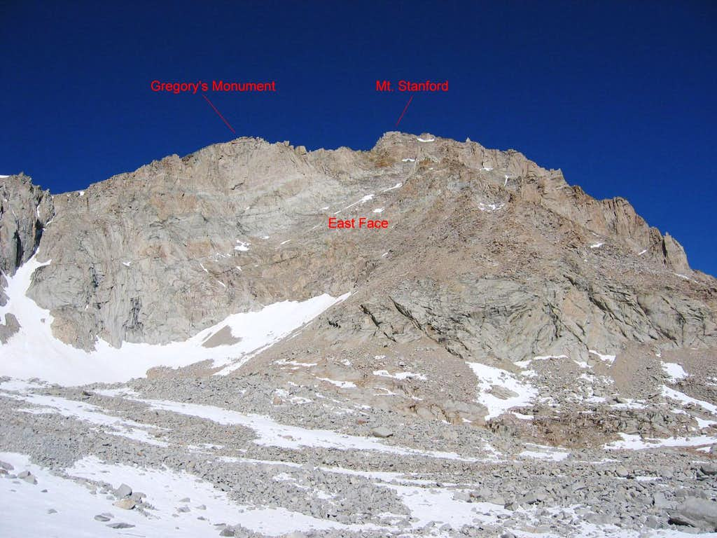 Mt. Stanford's East Face