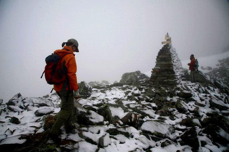 icy hiking