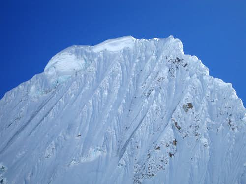 Climbers on the French direct