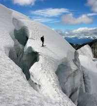 Sky skiis uphill in Canada, Wedge  TR link