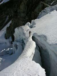 glacier fun on ascent, wedge