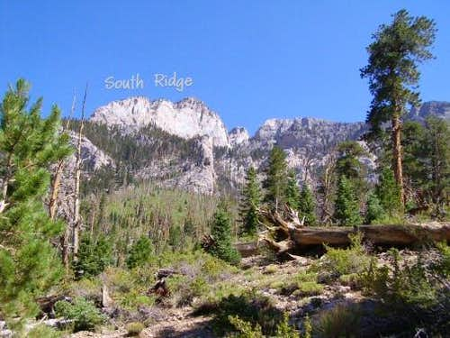 View of Mummy\'s South Ridge from Trail Canyon