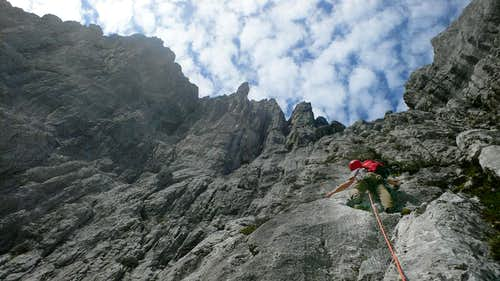 Climbing on the Totenkirchl-Express