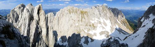 Panorama from summit of Fleischbank
