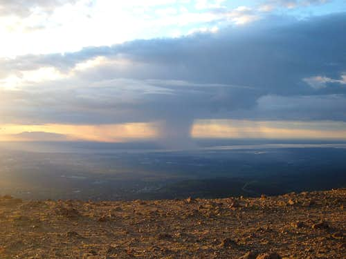 View of the storm from the summit