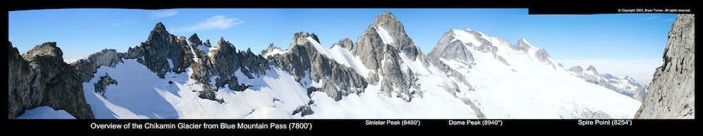 Dome Peak from Chikamin Glacier