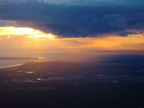 Sunset over the Cook Inlet