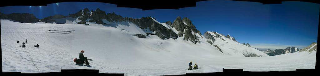 on the Chikamin Glacier