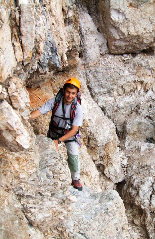 Renato in the traverse