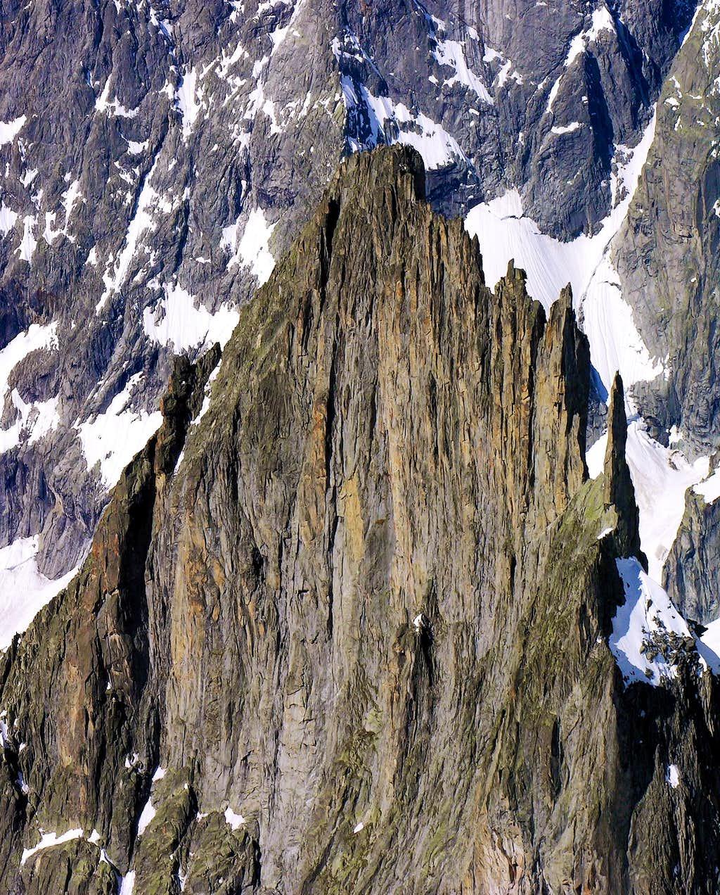 The north east slope of Aiguille de la Brenva (3278m)
