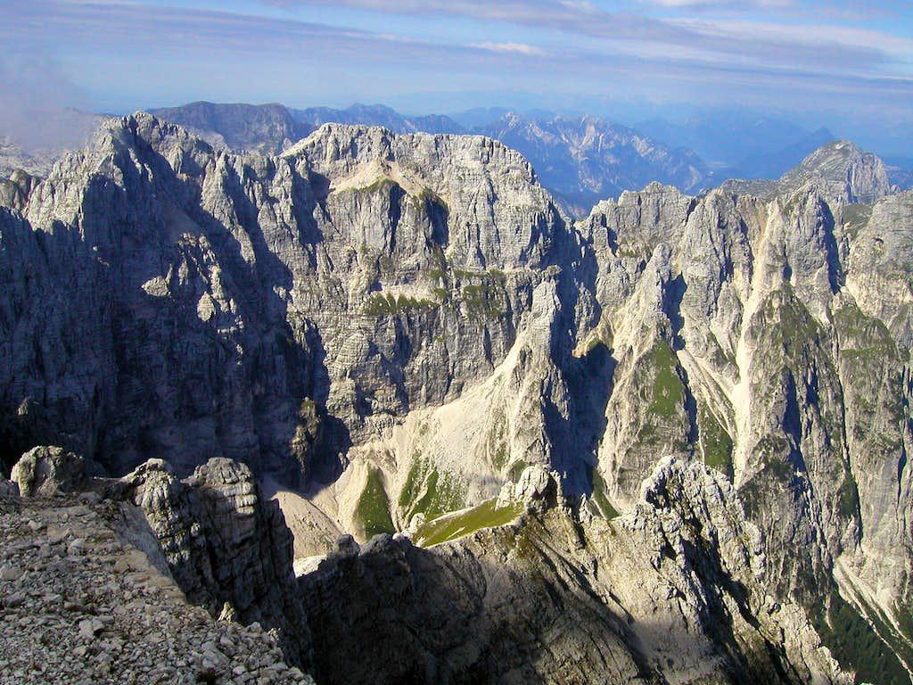 The north face of Modeon del Buinz / Spik nad Spranjo, 2558m.