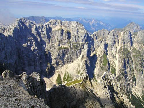 The north face of Modeon del Buinz / Spik nad Spranjo, 2558m.