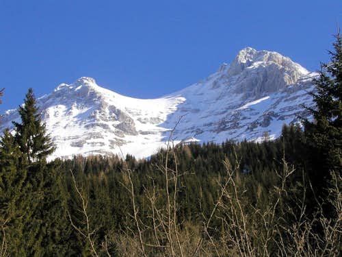 The south side of Modeon del Buinz / Spik nad Spranjo, 2558m.