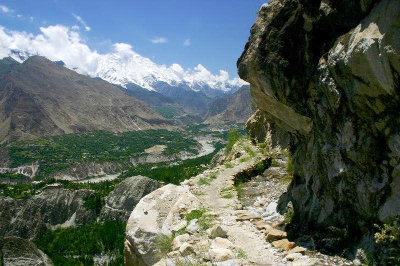 Hunza Valley from Ultar Trek