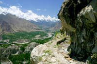 Hunza Valley from Ultar Trek