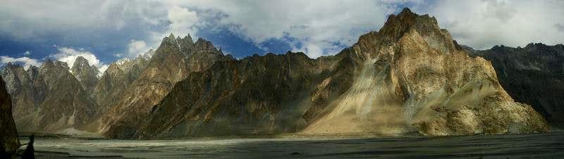 Rocks above Passu Village