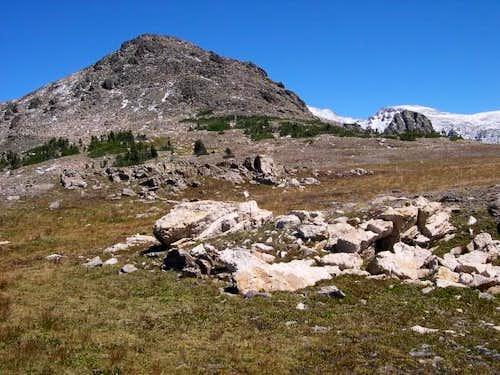 Wide open alpine hiking in a...