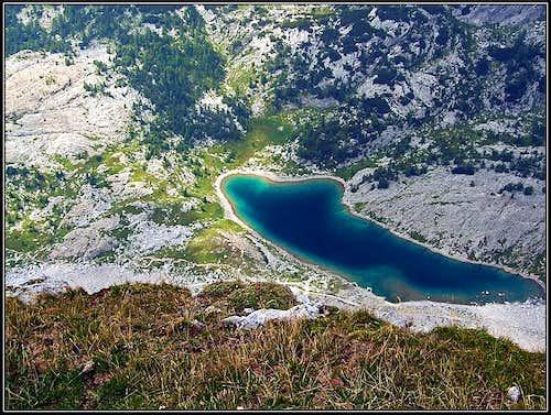 Veliko jezero from Zelnarica