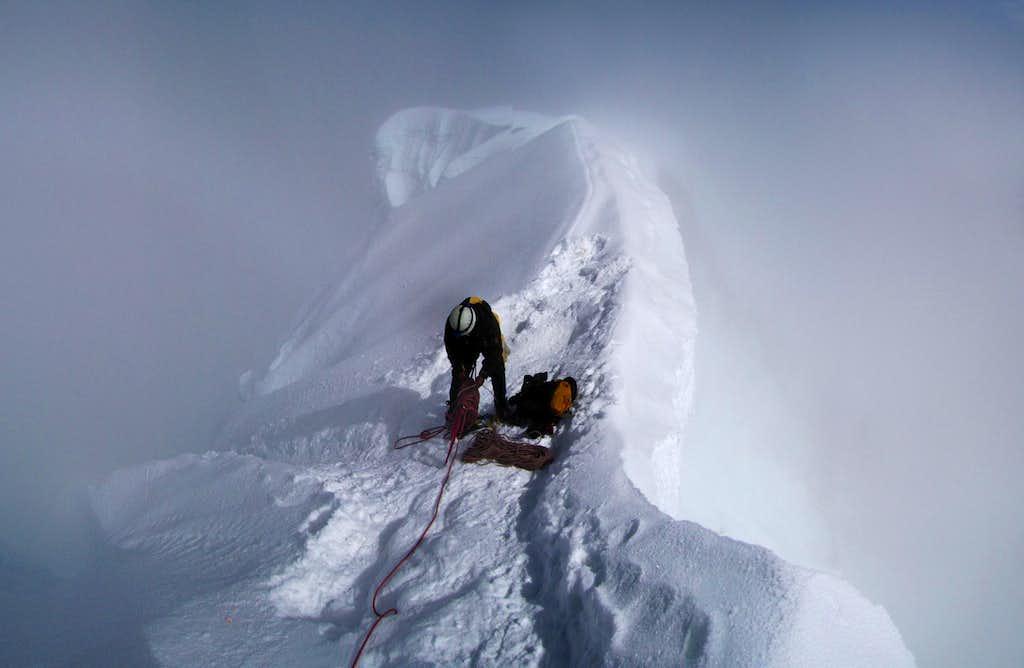 Summit ridge of Alpamayo