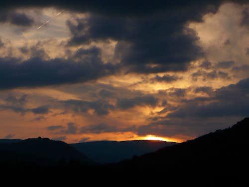 Sunset at Kremnicke mts.