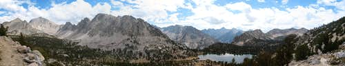 Panorama looking West from Kearsarge Pass Trail