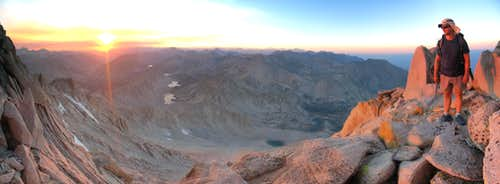 Panorama looking North from N Face