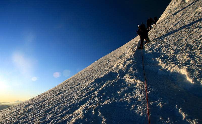 Climbing High on Tocllaraju