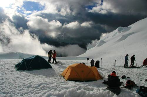 Camp 1 on Chopicalqui
