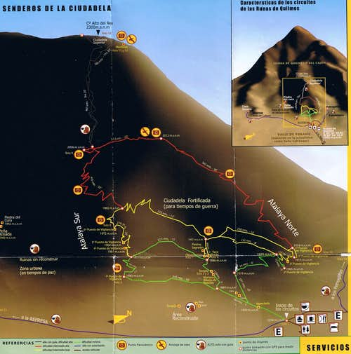 Map of Cerro Alto del Rey