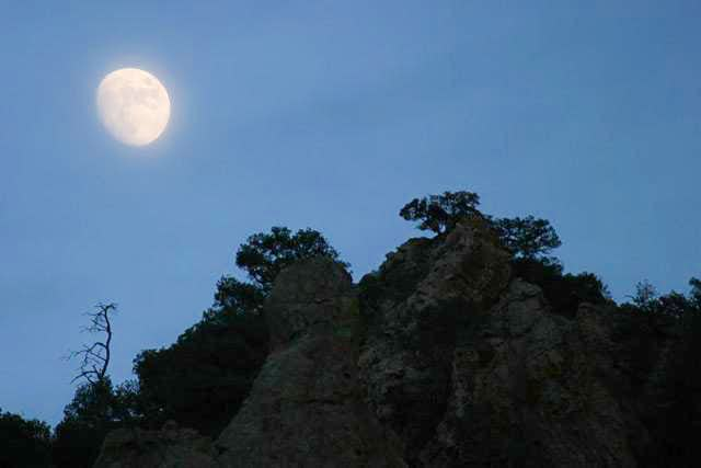 Moonrise in the...