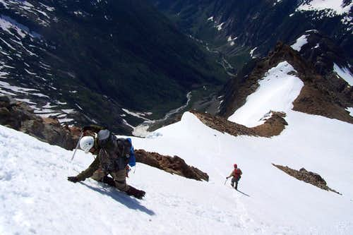 Descending the summit
