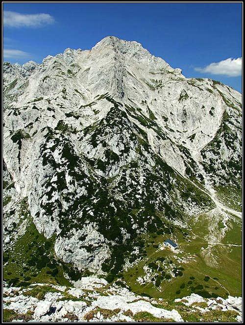 Ojstrica, above Korosica meadow