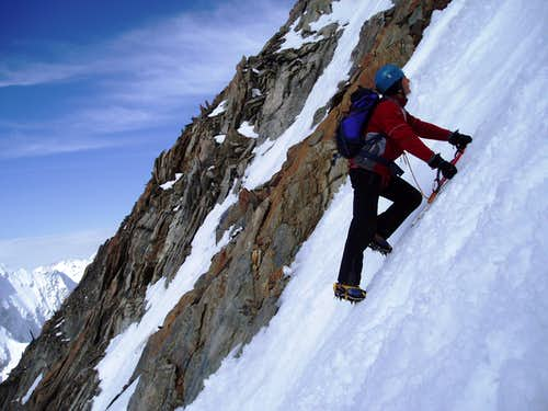 Climbing the couloir