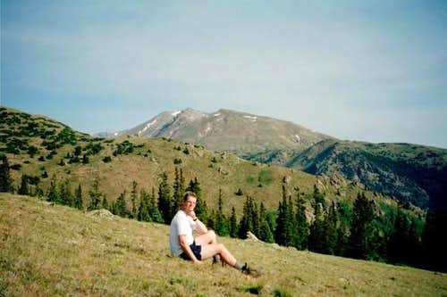 On my up Mt. Elbert, I took a...