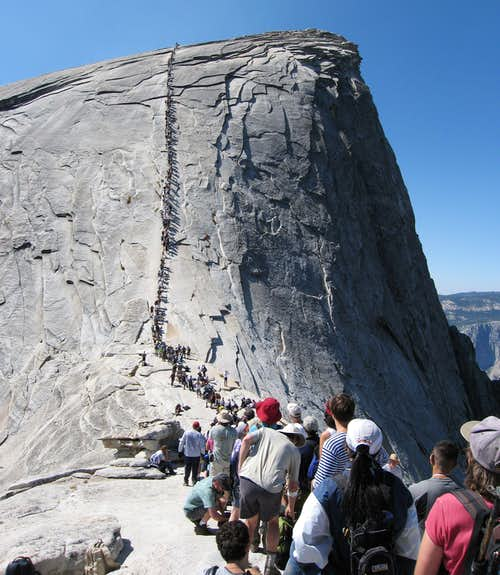 Half Dome Crowds