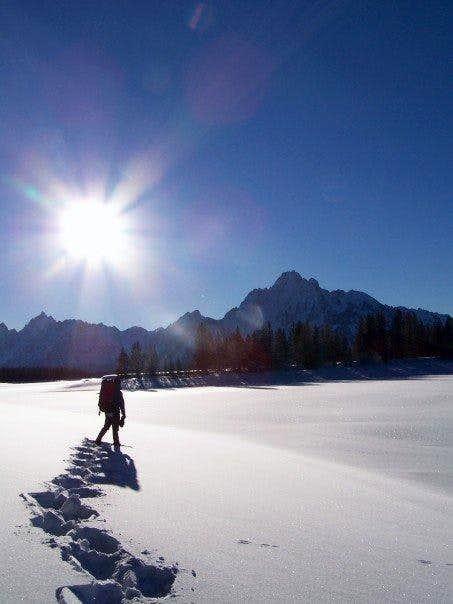 Snow Shoeing, Jackson Lake
