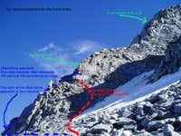 Modified route on Swiss Arete