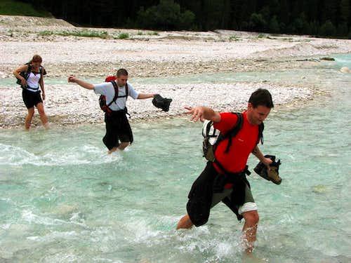 Crossing River Boite :-)