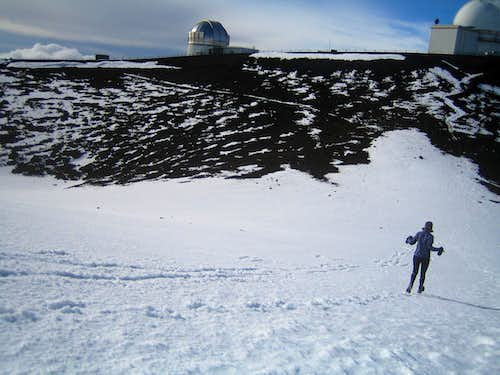 Running from the summit