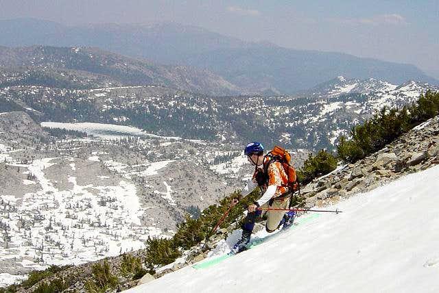 I'm having some fun skiing...