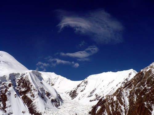 Clouds over North West glacier