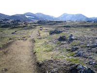 Trail leaving Landmannalaugar