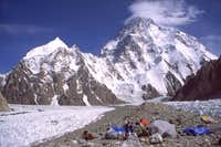 K2 from Broad Peak base camp...