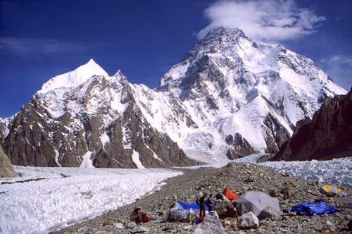 K2 from Broad Peak base camp...