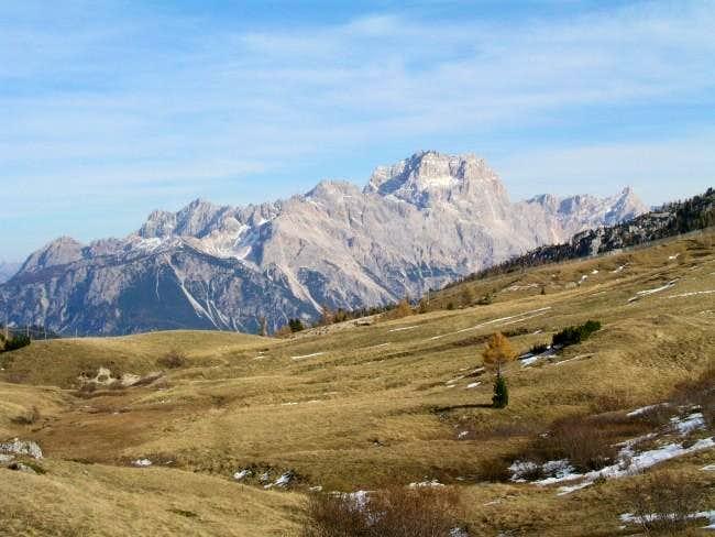 Punta Sorapis (3205 m) from...