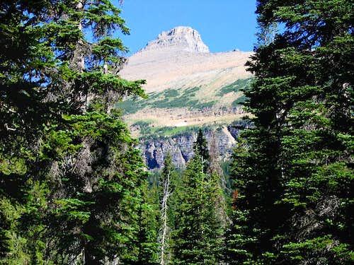 First View of Flinsch Peak.