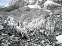 Penitentes On The Khumbu Glacier, Central Himalayas