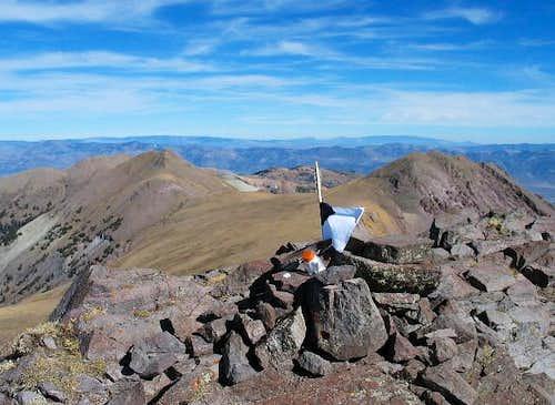 The summit of Delano Peak...