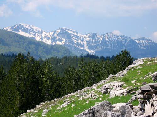 View to Prekornica...